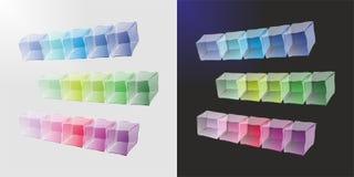 五颜六色的冰柱 库存图片