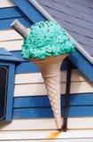 五颜六色的冰淇凌广告 库存图片