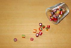 五颜六色的冰糖 免版税图库摄影