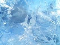 五颜六色的冰 抽象冰纹理 背景蓝色云彩调遣草绿色本质天空空白小束 图库摄影