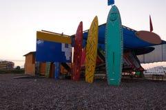 五颜六色的冲浪板 库存图片
