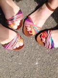五颜六色的凉鞋 图库摄影