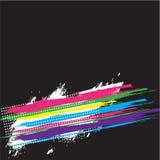 五颜六色的减速火箭的掠过的模板 图库摄影