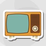 五颜六色的减速火箭的电视设计,传染媒介例证 库存图片