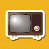 五颜六色的减速火箭的电视设计,传染媒介例证 库存照片