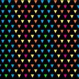 五颜六色的几何三角无缝的传染媒介样式 免版税库存图片