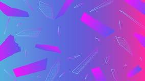 五颜六色的几何传染媒介minimalictic背景 免版税库存照片