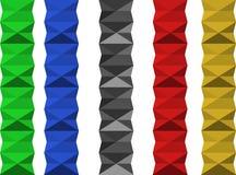 五颜六色的几何分离器 图库摄影