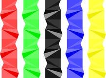 五颜六色的几何分离器 库存图片