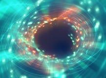 五颜六色的几何圆tunnelshape摘要技术后面 库存照片