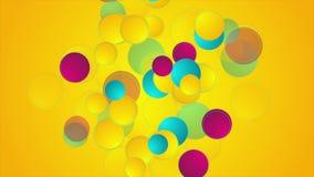 五颜六色的几何圈子抽象录影动画 皇族释放例证