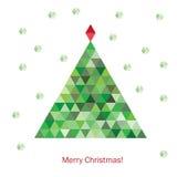 五颜六色的几何圣诞树 免版税图库摄影