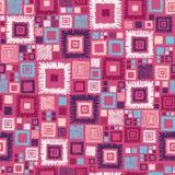 五颜六色的几何正方形无缝的样式 免版税库存照片