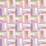 五颜六色的几何镶边方形的瓦片马赛克样式背景-无缝的例证 向量例证