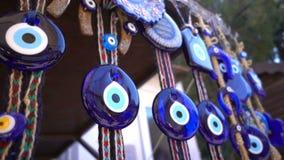 五颜六色的凶眼小珠护身符 影视素材