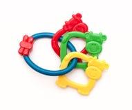 五颜六色的出牙玩具 库存照片