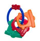 五颜六色的出牙玩具 免版税库存图片