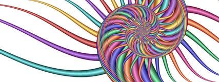 五颜六色的分数维图象漩涡 图库摄影