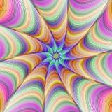 五颜六色的分数维数字式艺术背景设计 库存图片