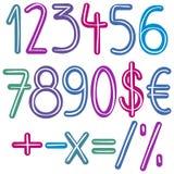 五颜六色的刷子数字 免版税库存照片