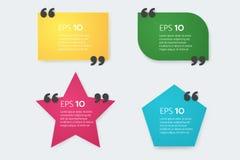 五颜六色的刺激行情箱子模板 空的模板 纸板料,信息,文本 库存图片