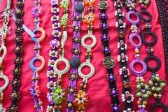 五颜六色的刺绣绳索旅行家 库存图片