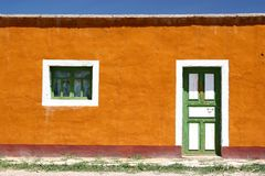 五颜六色的前房子 免版税库存照片