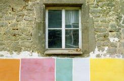 五颜六色的前房子 免版税库存图片