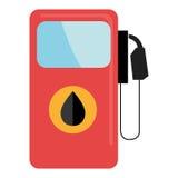 五颜六色的加油站,向量图形 皇族释放例证