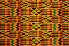 五颜六色的加纳手工制造地毯纹理 免版税库存照片