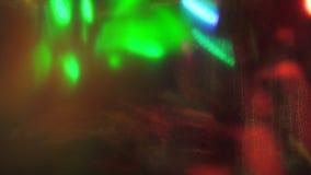 五颜六色的动态科学幻想小说荧光的闪烁的背景 股票视频