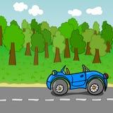 五颜六色的动画片汽车 库存图片