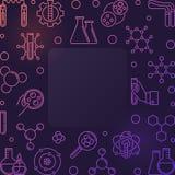 五颜六色的化学传染媒介概念概述方形的框架 库存例证