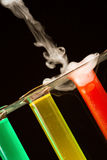 五颜六色的化学 免版税库存图片
