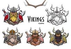 五颜六色的北欧海盗象 免版税库存图片