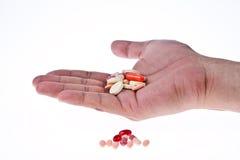 五颜六色的医学片剂 免版税库存照片