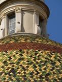 五颜六色的半球形的屋顶 免版税库存照片