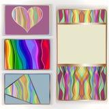 五颜六色的卡集 免版税库存图片