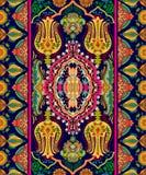 五颜六色的印度装饰品,传染媒介clipart 阿拉伯几何墙纸 无缝佩兹利的模式 纺织品的,织品设计, 免版税库存图片