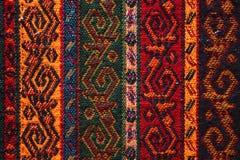 五颜六色的印第安纺织品 免版税库存图片