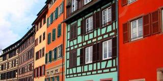 五颜六色的历史房子 免版税库存照片