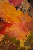 五颜六色的原始的抽象油画,背景 库存照片