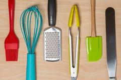 五颜六色的厨房工具 库存图片