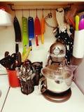 五颜六色的厨房 免版税库存照片