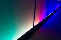 五颜六色的反射照明设备墙壁摘要背景 库存图片