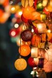 五颜六色的发光的圣诞灯 免版税图库摄影