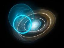 五颜六色的发光的未来蓝色和金子技术 图库摄影
