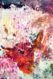 五颜六色的发光的生动的背景,绘的水彩背景,绘的抽象颜色 库存图片