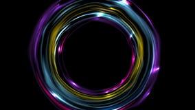 五颜六色的发光的电氖敲响录影动画