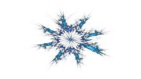 五颜六色的发光的神经元分数维 库存例证
